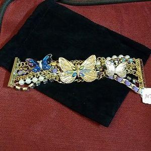 NWT Betsey Johnson Butterfly Bracelet